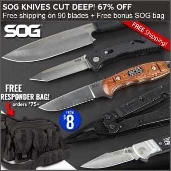 SOG knives on sale at Field Supply