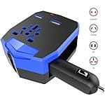 UNIVERSAL TRAVEL Adaptor with Car Charger and 2 USB Ports