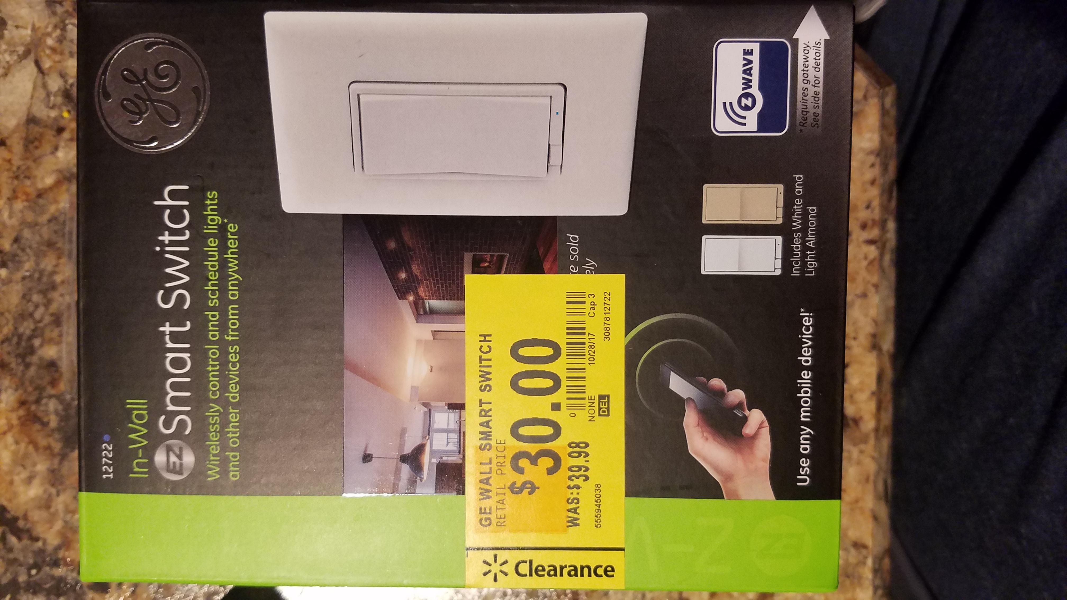 GE In-wall Smart Switch 12722  YMMV $30