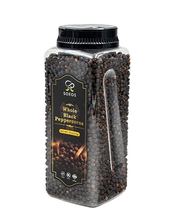 45% off! Amazon.com : Soeos Premium Whole Black Peppercorns 18oz, (TOP GRADE), Black $8.24