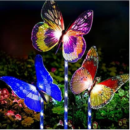 Garden Solar Lights Outdoor - 3 Pack Solar Stake Light Multi-color Changing LED Garden Lights $16.79