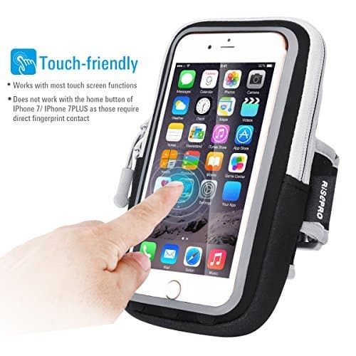 Iphone 7 Plus Armband, RISEPRO Waterproof Case Dry Bag Touchscreen Pouch for Jogging Outdoor Sports Climbing Running $2.95