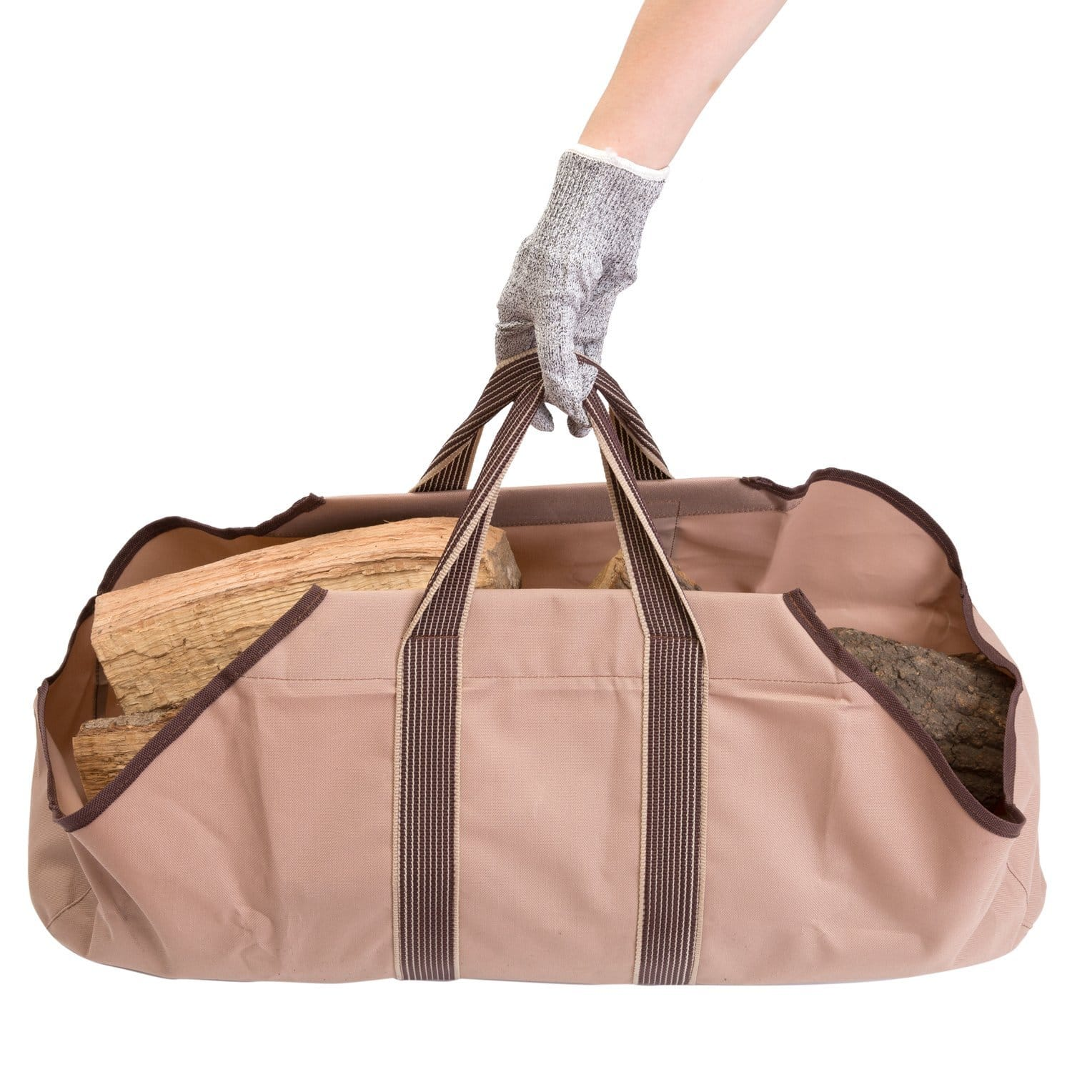 HollyHOME Heavy Duty Canvas Firewood Log Tote, Large Capacity $5.99
