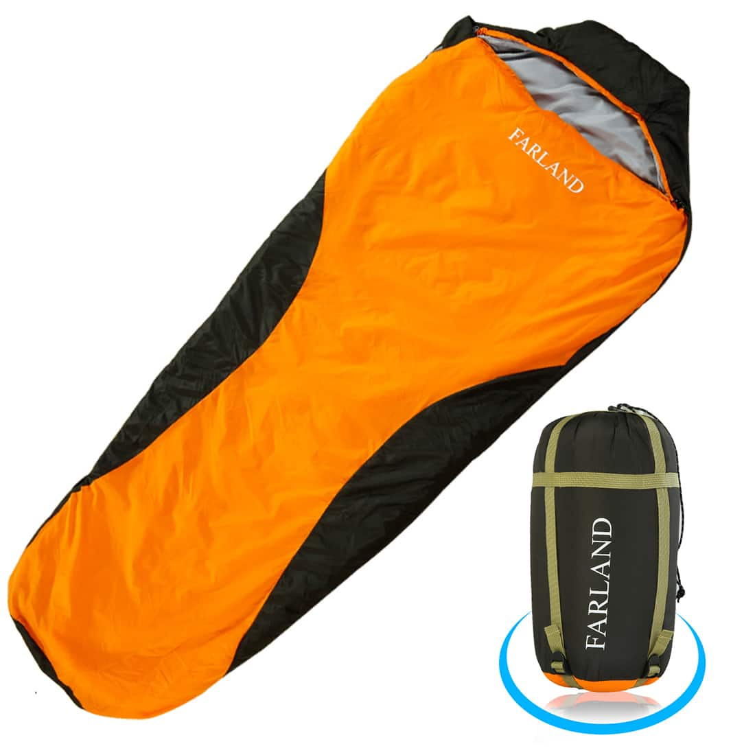FARLAND Lightweight Sleeping Bag & Portable Waterproof Mummy Bag With Compression Sack @ Amazon $19.80