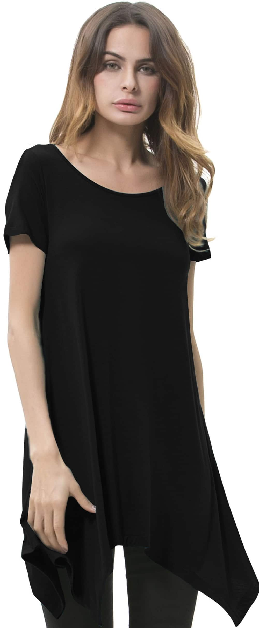 Songbai Women Swing Tunic Tops Loose Fit Comfy Flattering T Shirt Woman Clothing $11.99