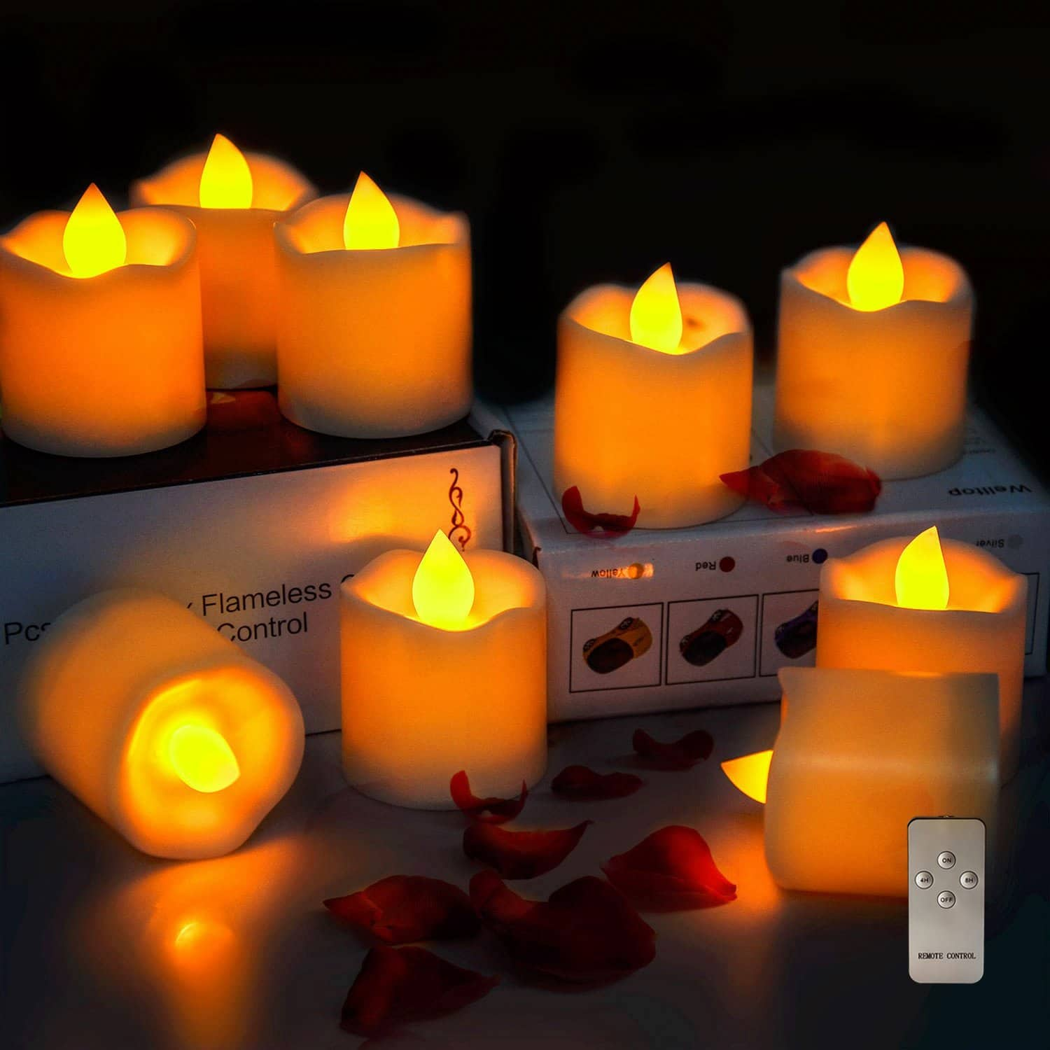 Intsun (Set of 9 Flameless Candles) Battery Operated w/ Remote Timer LED Candles Pillar, Tea Lights $7.94 @ Amazon FS w/ Prime