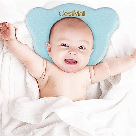 Baby Pillow, Kids Toddler Pillow With Pillowcase, Memory Cotton Baby Protective Pillow for Flat Head Syndrome Prevention $6.84