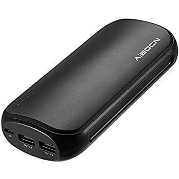 Aibocn Power Bank 16000mAh Portable External Charger with Fast Charging Technology for Apple Phone iPad Samsung Galaxy Tablets and More, Black $11.59