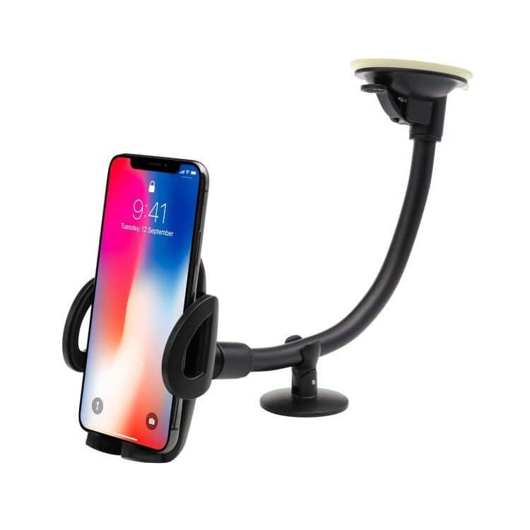 EXSHOW Car Mount,Universal Windshield Dashboard 12 inches Long Arm Car Phone Mount for iPhone X/8/7/6S/6 Plus/5S/5, Samsung Galaxy S6 S5, Nexus 5X/6P, LG, HTC At Amazon 4.80 $4.8