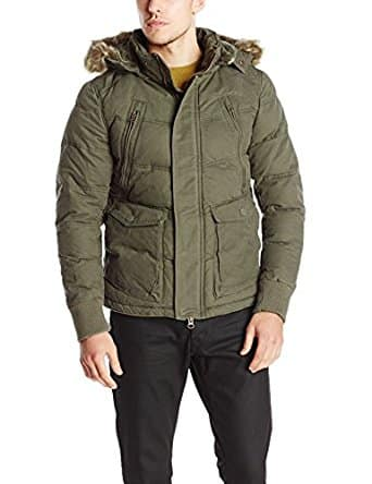 Jet Lag Men's Hooded Parka, Olive, Large $24.99 + FS