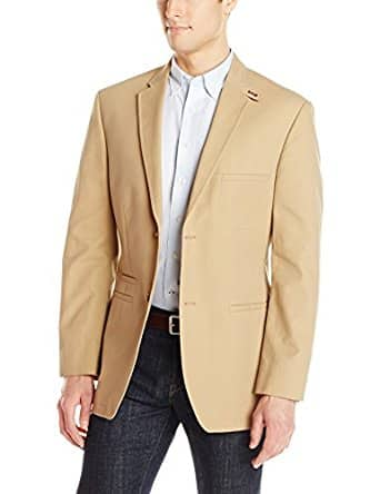 Amazon- Haggar Men's Solid Cotton Two-Button Side Vent Tailored Fit Sport Coat (S) $20.01 + FS