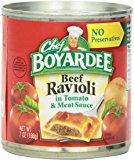 Amazon Chef Boyardee Mini Beef Ravioli, 15 Oz. 4-Count (Pack of 6) $13.92 or $11.83 with 15% S&S