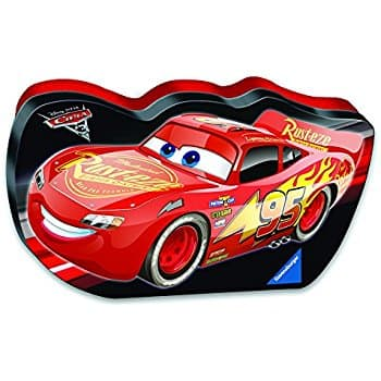 Amazon Ravensburger Disney Cars 3 Let's Go In A Cars Shaped Box Puzzle (100 Piece) $3.56 (Add-On)