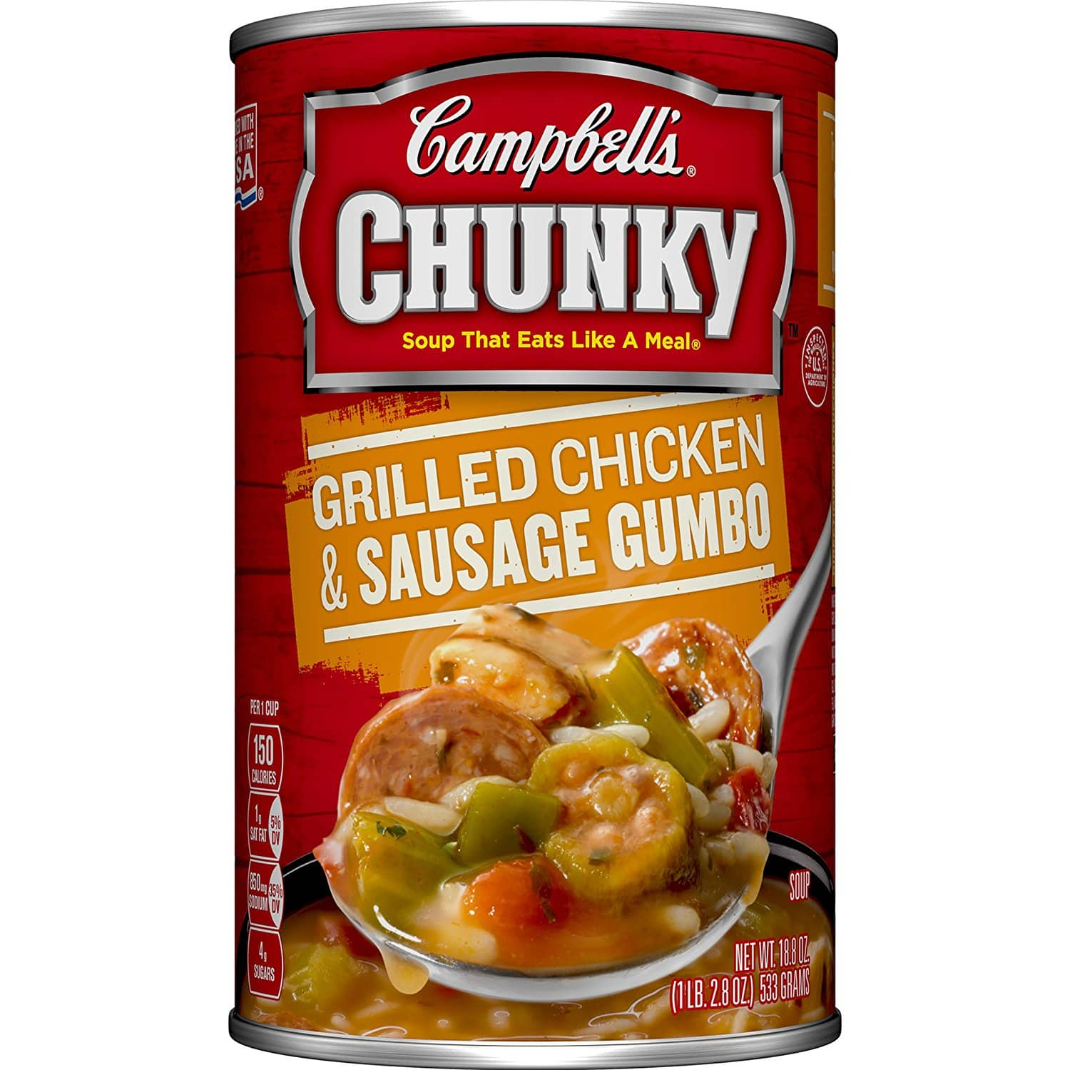 Campbell's Soup, Chicken & Sausage or Chicken & Dumplings, 18.8 Ounce (Pack of 12) $13.97 After 30% Coupon and 15% S&S