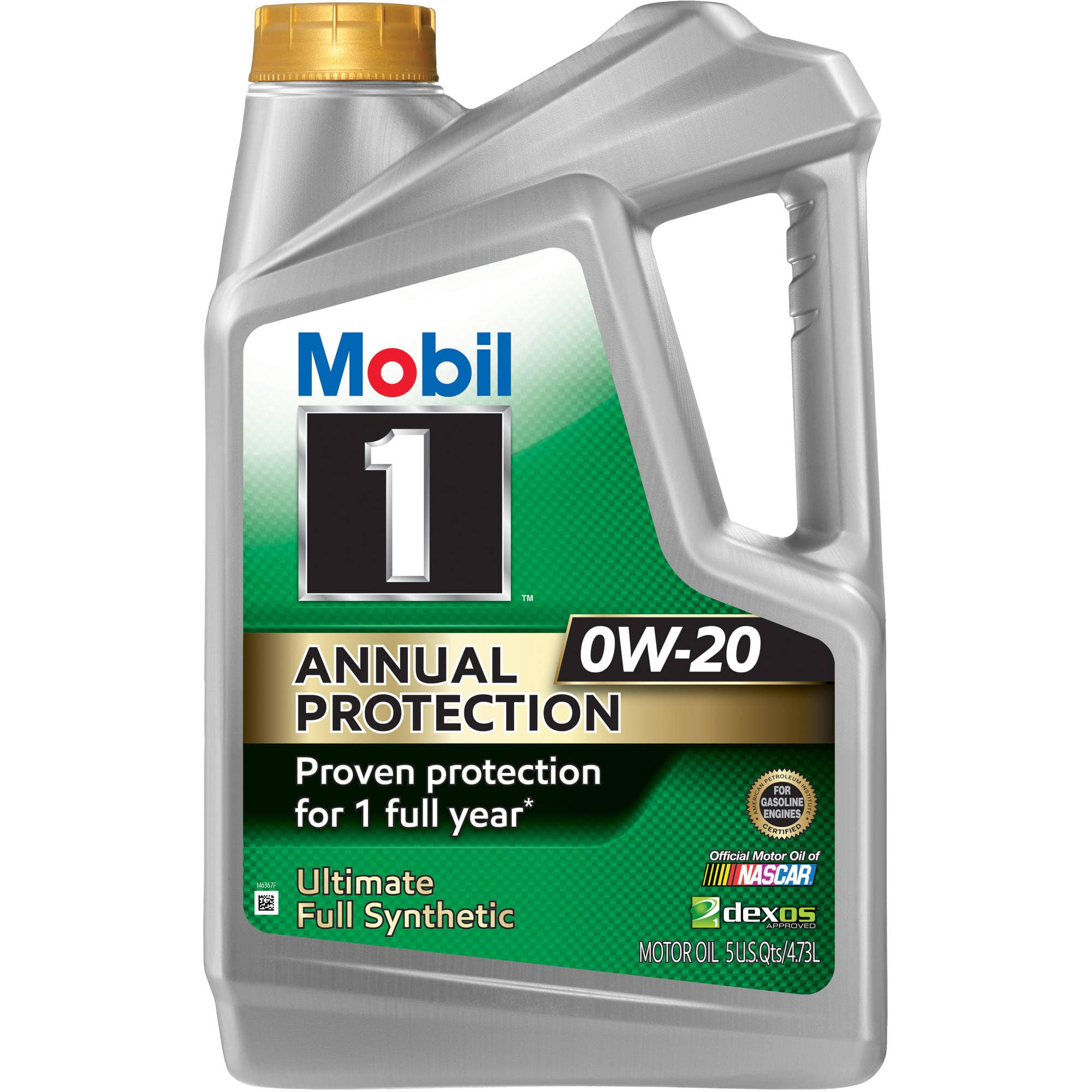 Mobil 1 Annual Protection Full Synthetic Motor Oil 5 Quart $25, One Qt $7 Wal-Mart B&M YMMV
