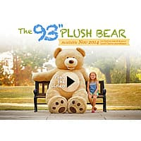Costco Wholesale Deal: 93'' Plush Bear - Coming November 2014 Heads Up - Costco