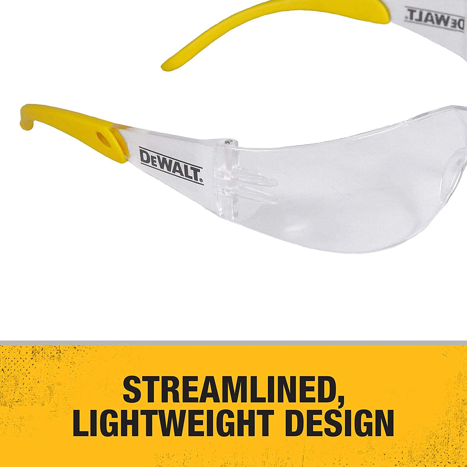 Dewalt DPG54-1D Protector Clear High Performance Lightweight Protective Safety Glasses with Wraparound Frame $2.99