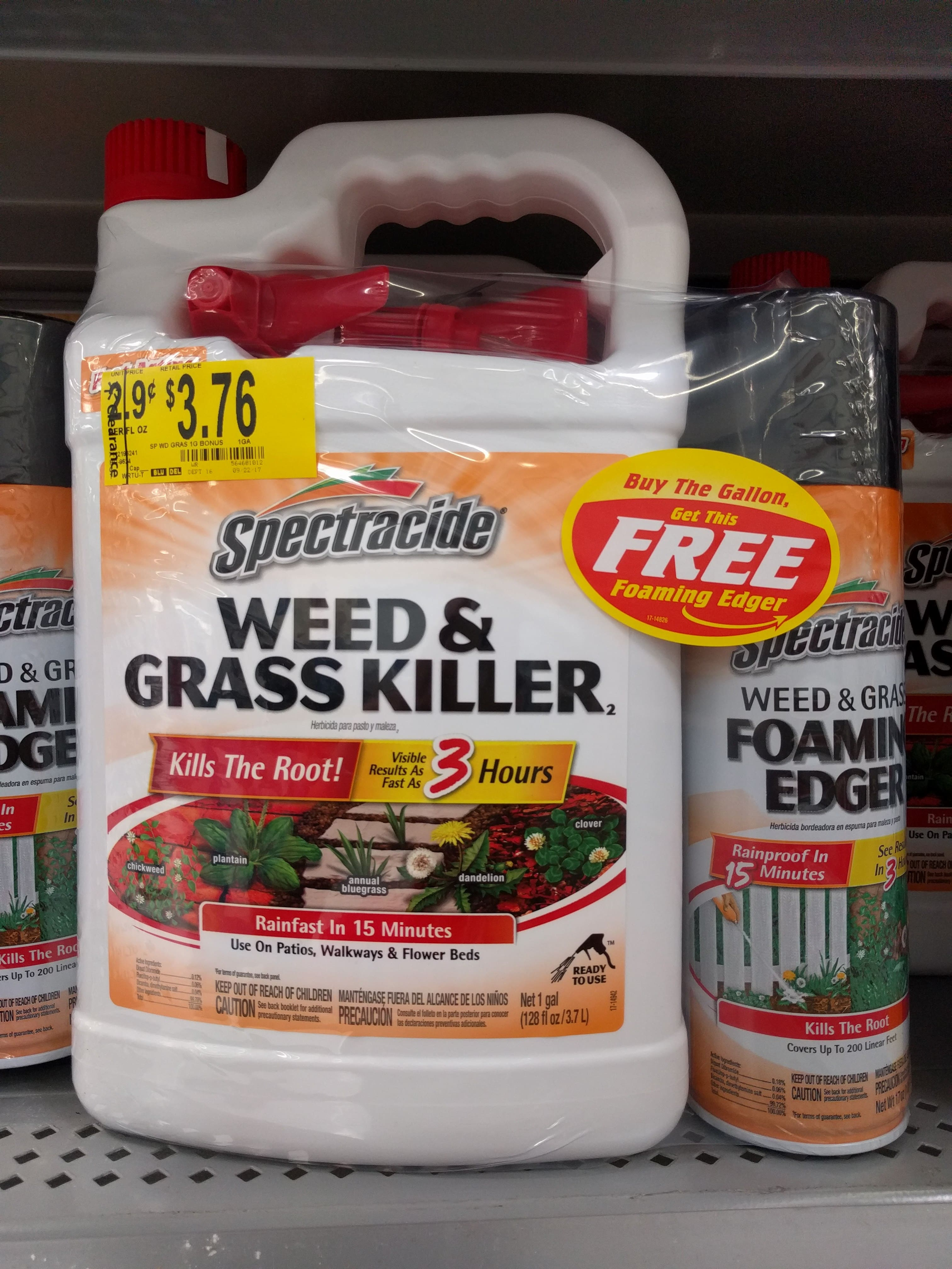 Spectracide Weed and Grass Ready-to-Use for $3.97