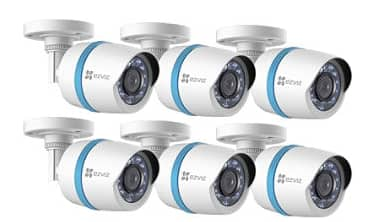 EZVIZ 8 Channel 1080p HD IP NVR Security System with 2TB Hard Drive, 6 1080p Weatherproof Bullet Cameras with 100' Night Vision $449