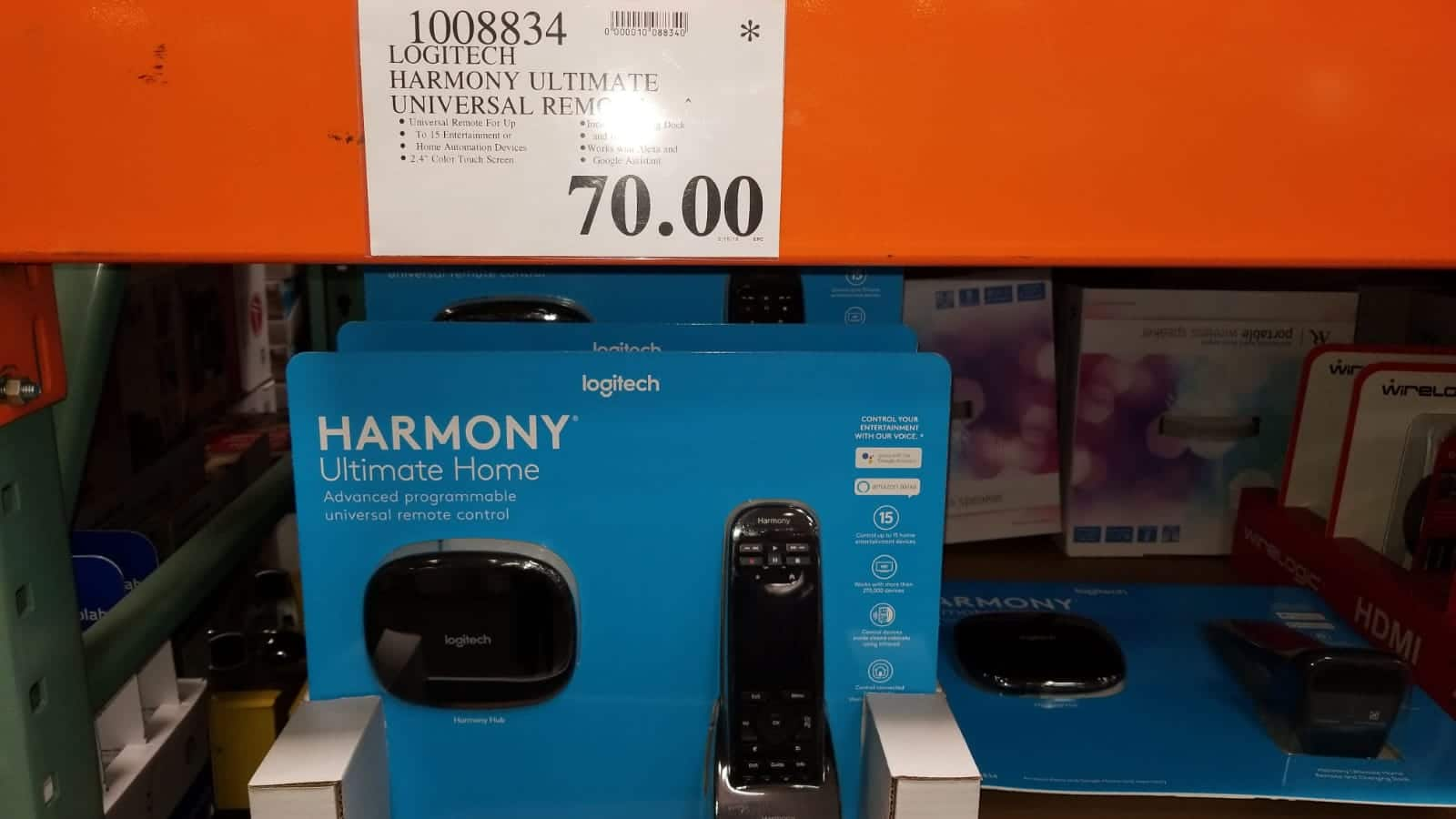 Costco B&M Logitech Harmony Ultimate Remote $70 YMMV