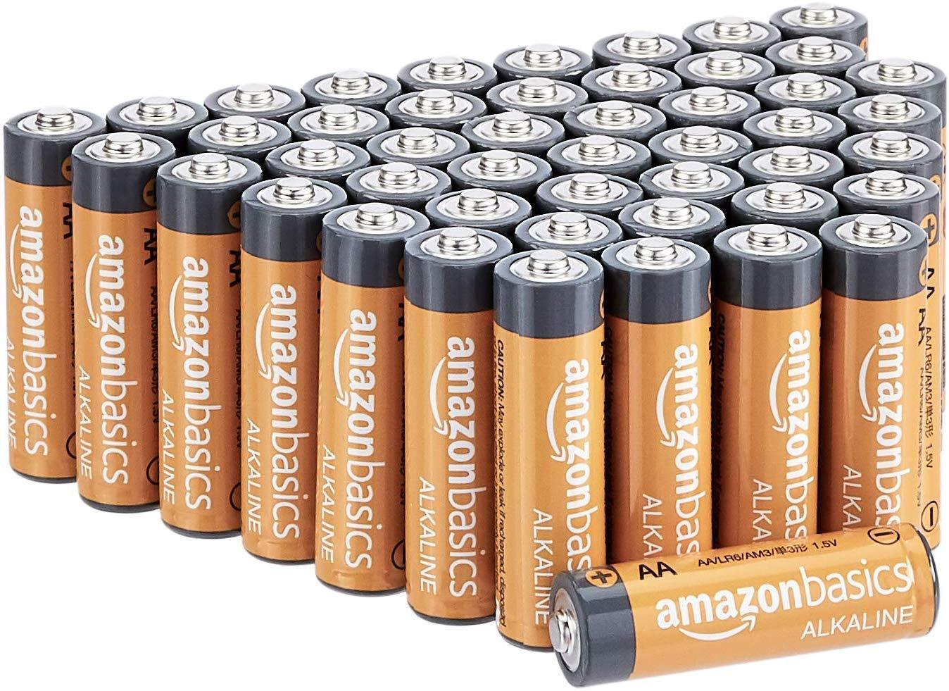 Select Amazon Accts: 48-Pack AmazonBasics AA Alkaline Batteries