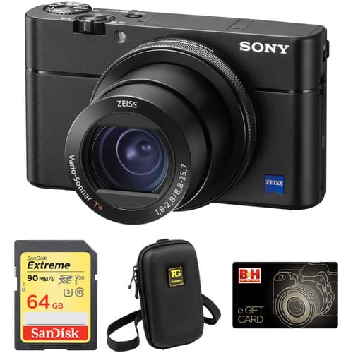 Sony Cyber-shot DSC-RX100 V + $100 gift card + 64GB SDHC + Case $948