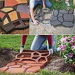 12% off DIY Plastic Path Maker Mold Manually Paving Cement Brick Stone Road Auxiliary Garden Tools