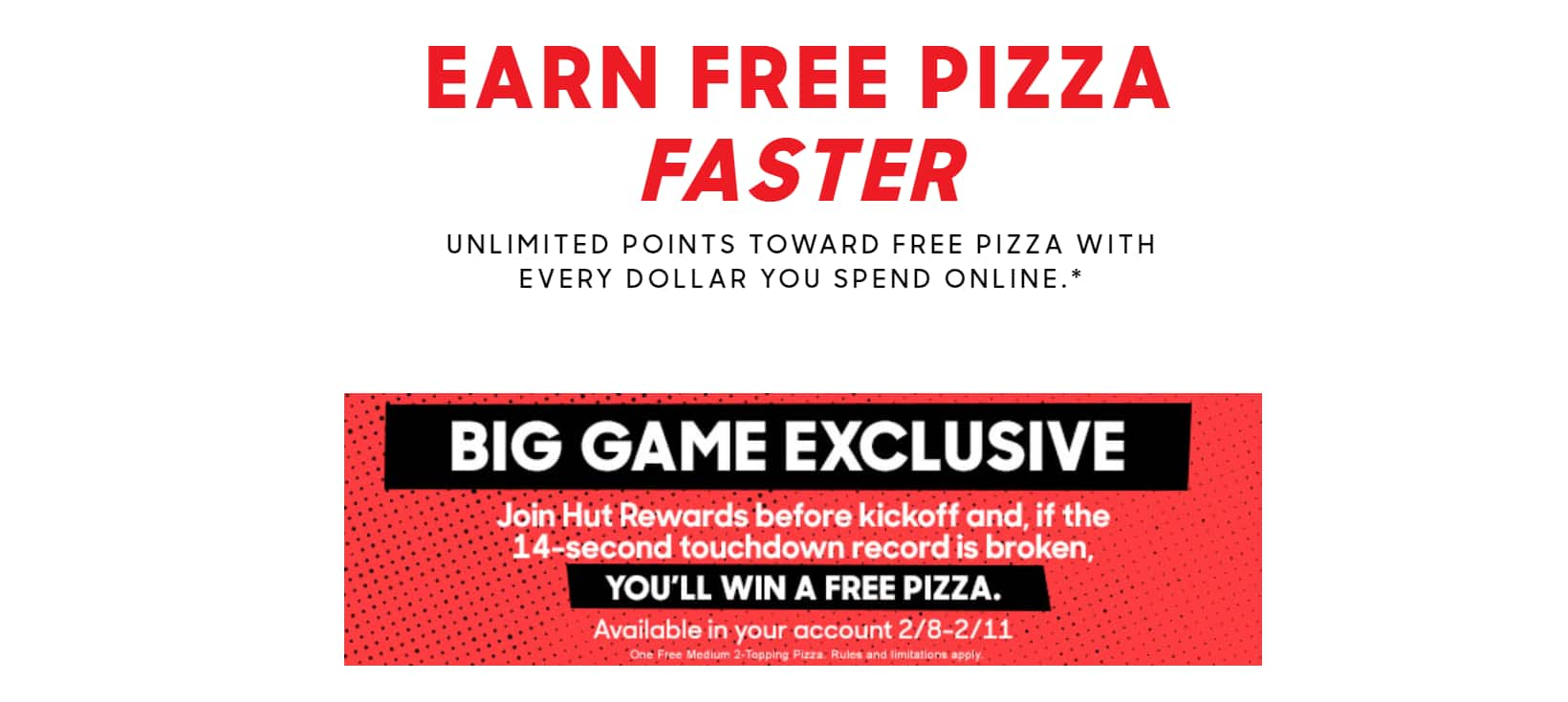 Pizza Hut - Possible FREE Pizza after Super Bowl LII