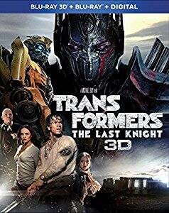 Amazon: Transformers The Last Knight 3D Bluray $9.99