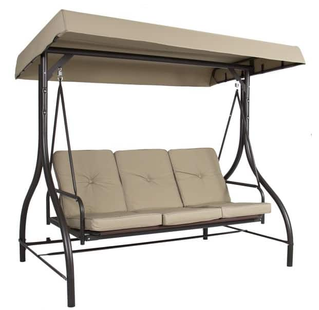 3 Seater Outdoor Canopy Swing (Various Colors) $130
