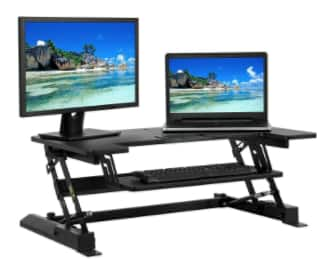 Standing Desk Dual-Monitor Riser Sit/Stand Workstation $120