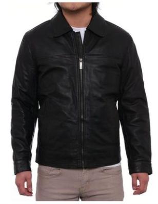 Perry Ellis Lambskin Men's Leather Jacket $69.99