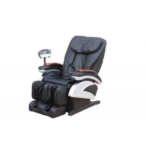 Electric Full Body Shiatsu Massage Chair Recliner Stretched Foot Rest 06 [Black] $579.99