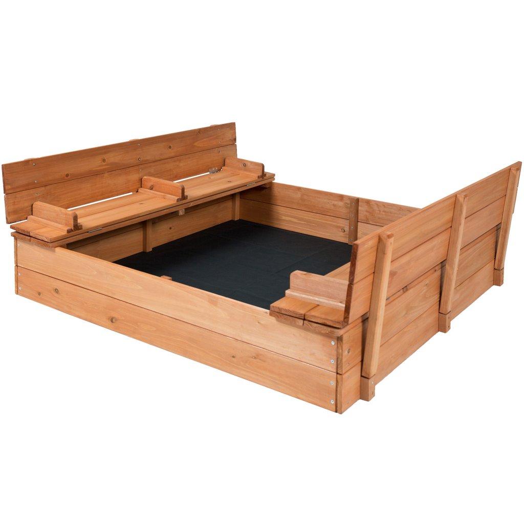 Best Choice Products Cedar Sandbox w/ Two Bench Seats $79.99