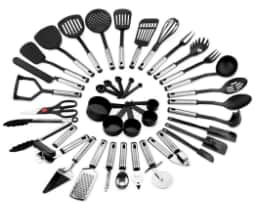 39-Piece Stainless Steel Cooking Utensils Set $30.49
