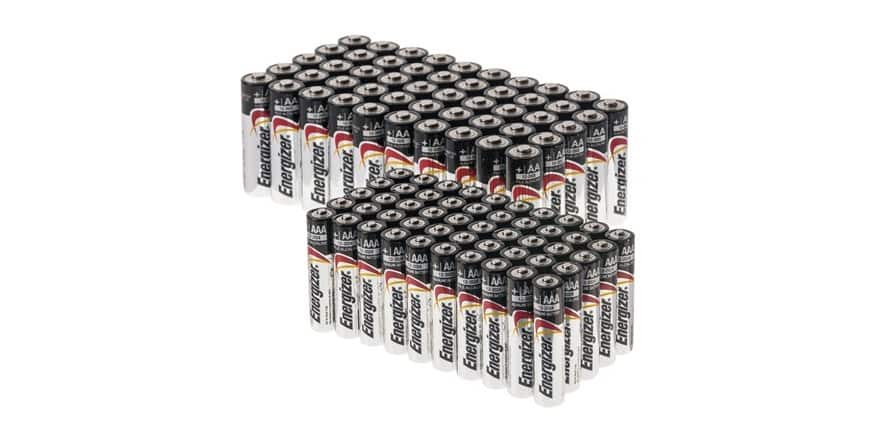 50AA + 50AAA Energizer Max Alkaline Batteries for $29.99 + more Combos on Woot $34.99