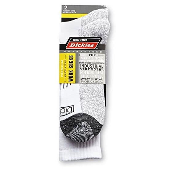 2-Pair of Dickies Genuine Industrial Strength Men's Crew Work Socks $5.99