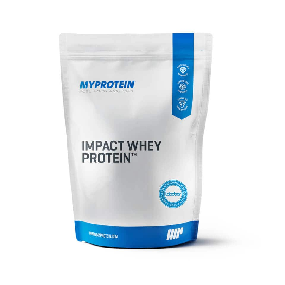 Myprotein All 11lb's Impact Whey Protein for $47.99