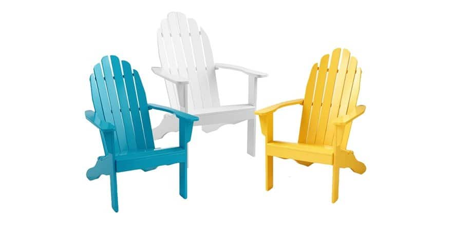 Cool-Living Painted Adirondack Chair for $36.99 + $5 shipping $41.99