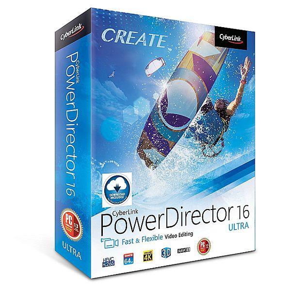 CyberLink PowerDirector 16 Ultra - Download & Disc via Amazon for $44.99