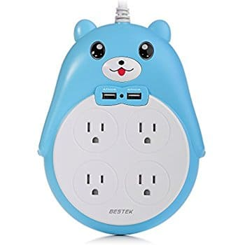 Surge Protector Power Strip 4-Outlet 2 USB 5.9-Foot Cord $13.20