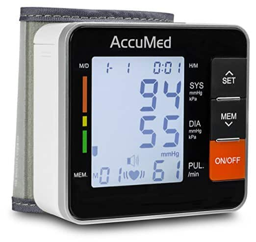 AccuMed ABP801 Portable Wrist Blood Pressure Monitor $17.99