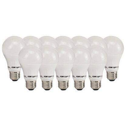 12 Pack 60W Equivalent A19 Soft White LED Light Bulbs $14.39