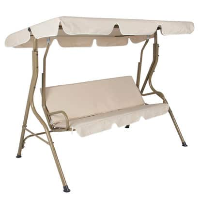 BCP Outdoor 2-Person Canopy Swing Glider (Beige) $54.39 + Free Shipping