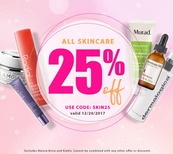 25% off all Skin Care products at Planet Beauty