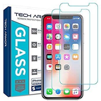 Tech Armor iPhone X Ballistic Glass 2-pack $3.95