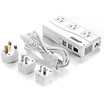 BESTEK 200W Power Converter 220V to 110V Travel Voltage Converter 4-Port USB Charging with International EU/UK/AU/US Plug Adapter $29.99