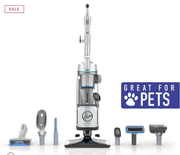 REACT Powered Reach Premier Pet Upright Vacuum $164.99