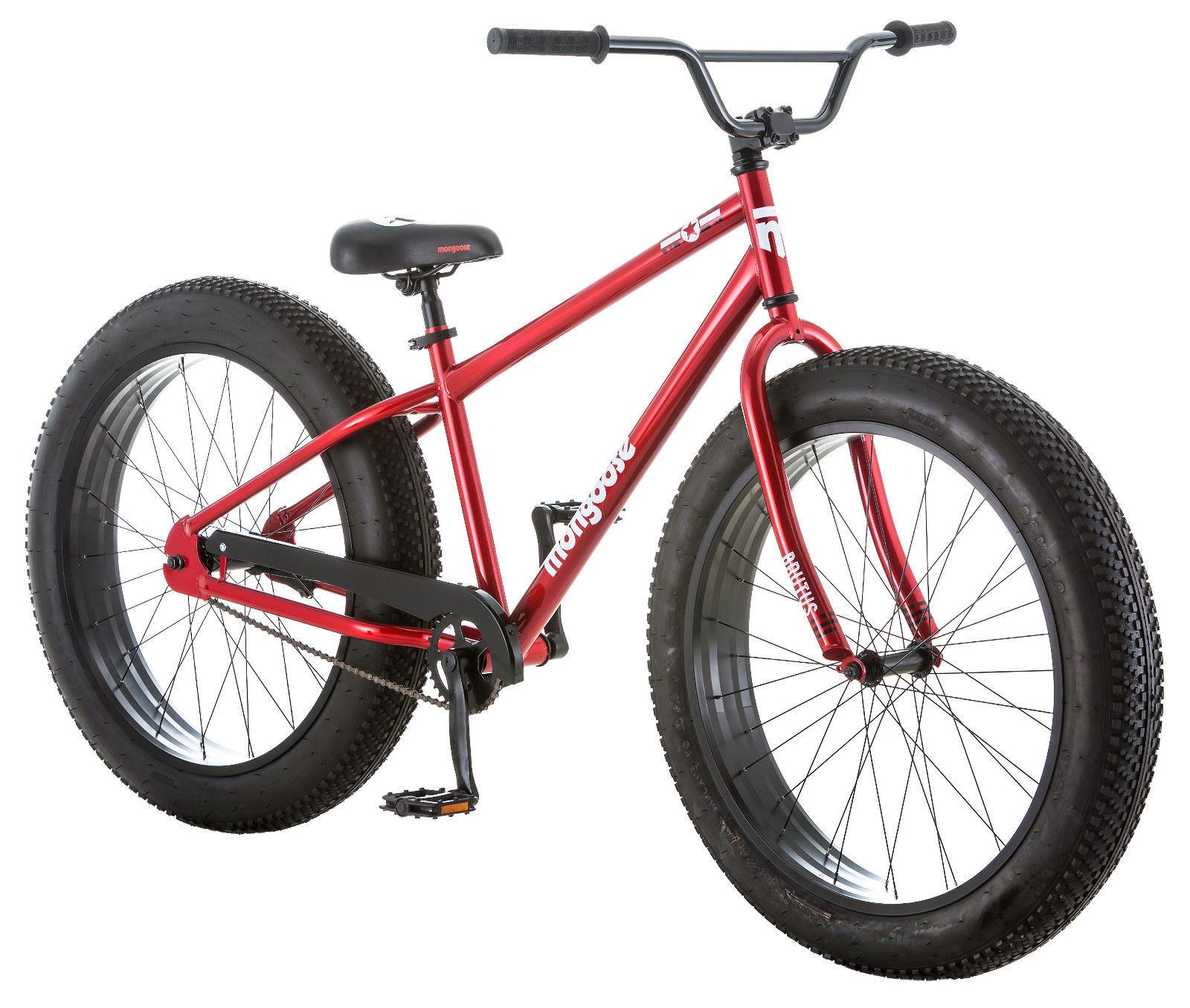 "26"" Mongoose Men's Brutus Fat Tire Bike, Red $135.99"