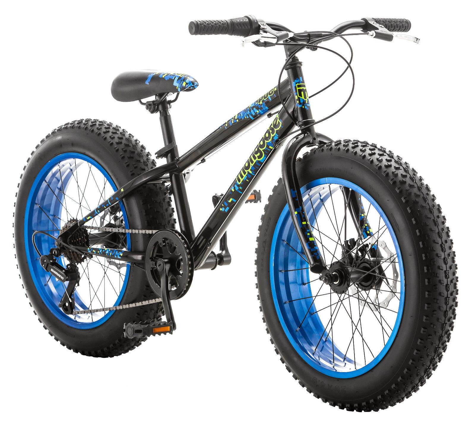 "20"" Mongoose Pug Fat Tire Bike Disc Brakes, Black $115.19"